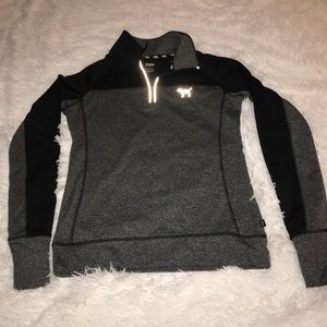 PINK Black and gray running pullover